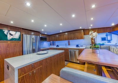 100 Hargrave yacht galley