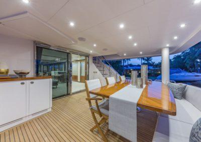 100 Hargrave yacht aft deck