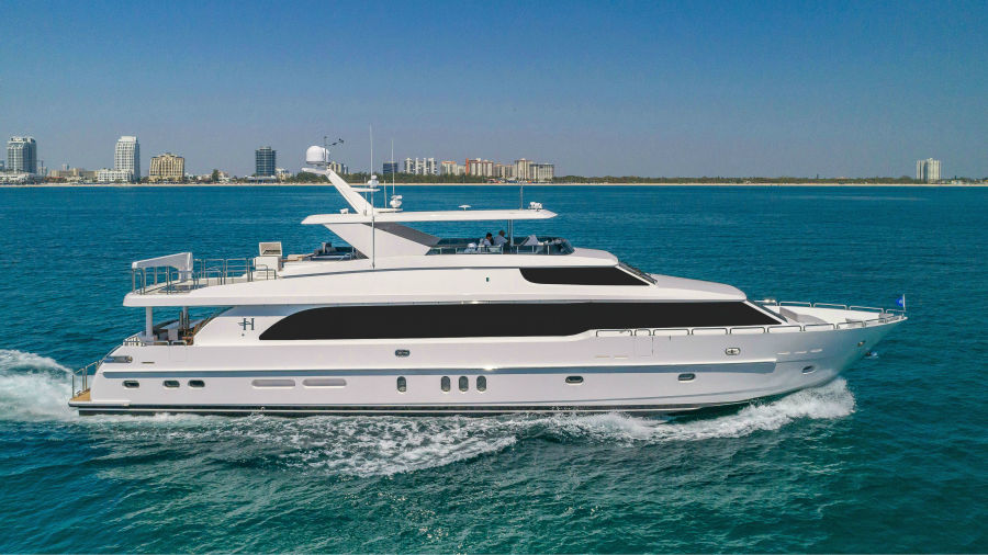 100 Hargrave Miami charter yacht