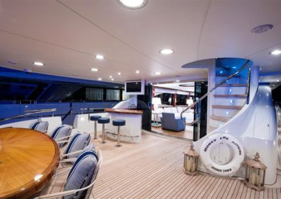 116' Lazzara yacht deck