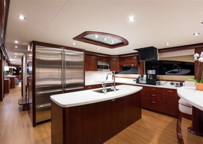 116' Lazzara yacht galley
