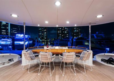 116' Lazzara yacht al fresco dining