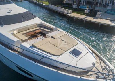 100 Azimut yacht bow sunpads