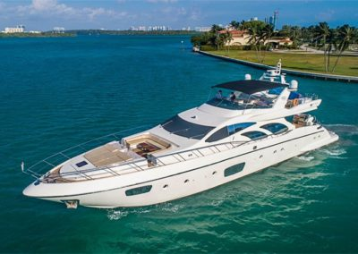 100 Azimut rented in Miami