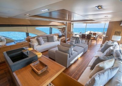 100 Azimut yacht salon with galley