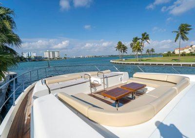 100 Azimut yacht aft sunpads