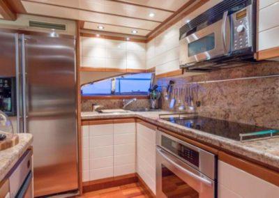 94 Ferretti yacht galley