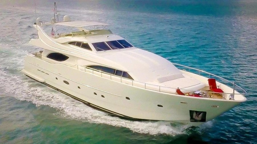 94 Ferretti charter motor yacht
