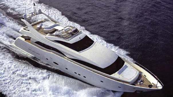 94' Ferretti motor yacht