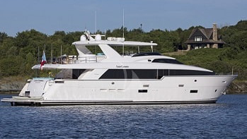 102 Hatteras luxury yacht