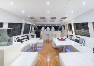 101 Leopard yacht salon