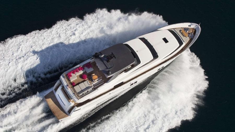 106 San Lorenzo charter yacht