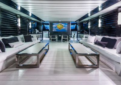 120' Tecnomar yacht salon
