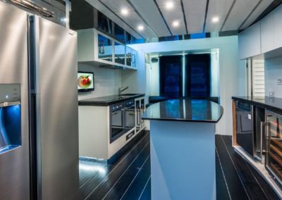 120' Tecnomar yacht galley