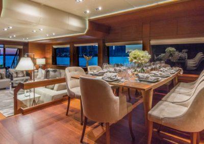 107 Vicem yacht main salon dining