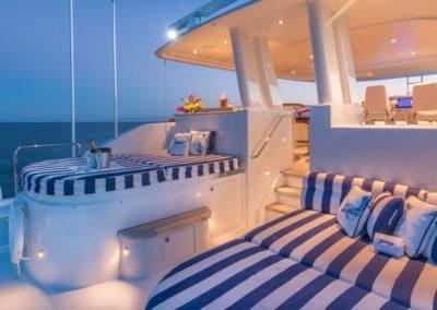 112 Westport yacht aft sunpads