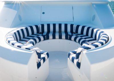 112 Westport yacht sunpads