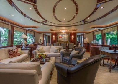 112 Westport yacht main salon