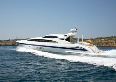 105 Mangusta luxury charter yacht in Miami