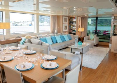 105 San Lorenzo yacht formal dining