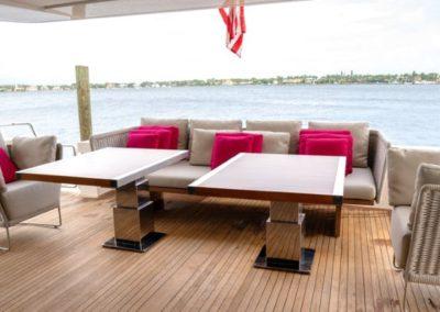 105 San Lorenzo yacht aft deck dining