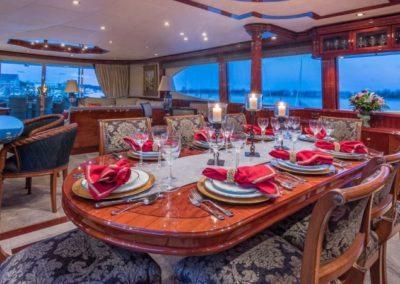 106 Lazzara yacht formal dining