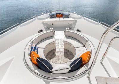 112 Westport yacht bow sunpads