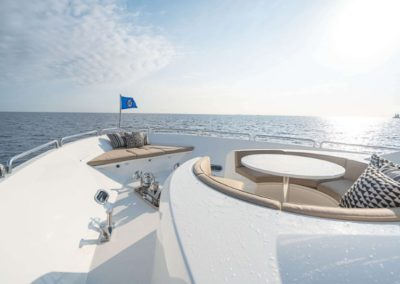 115 Westport luxury yacht bow seating