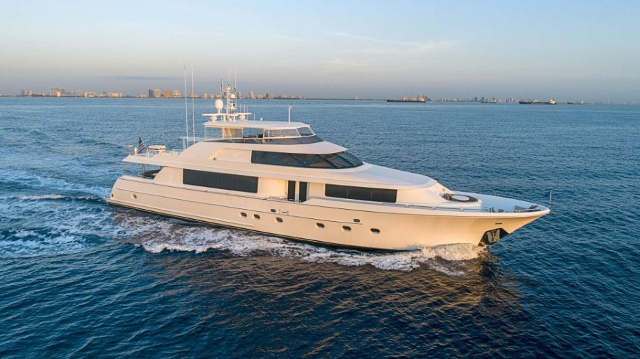 115 Westport luxury charter yacht