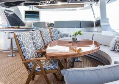 116 Azimut yacht flybridge bar and coffe lounge