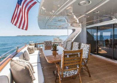 116 Azimut yacht aft deck casual dining