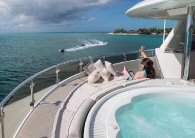 130 Westport luxury yacht at anchor