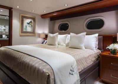 130 Westport yacht VIP stateroom