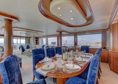 130 Westport yacht formal dining