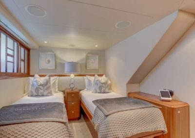130 Westport yacht twin beds cabin
