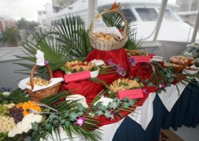 131 Swiftship yacht fruit and cheese display