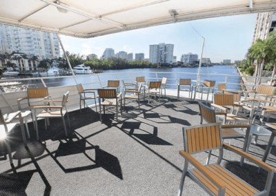 137 Swiftship party yacht upper deck lounge