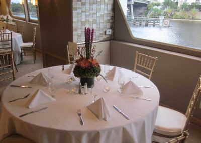 137 Swiftship party yacht sample of dining arrangement