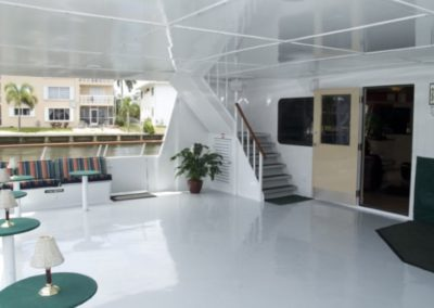 142 Swiftship yacht open air lounge