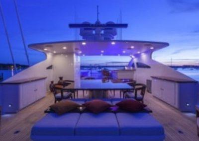 164 Trinity luxury yacht flybridge sunpads