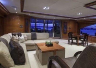 164 Trinity yacht main salon coffe table