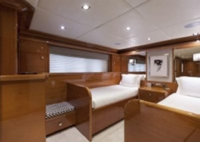 164 Trinity yacht twin beds cabin
