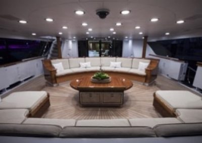 164 Trinity yacht aft deck lounge