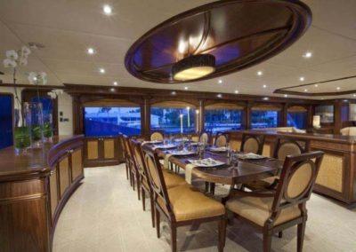 164 Trinity yacht formal dining