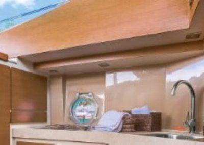 42 Azimut yacht galley