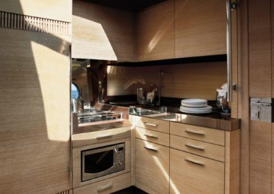 48 Azimut yacht galley