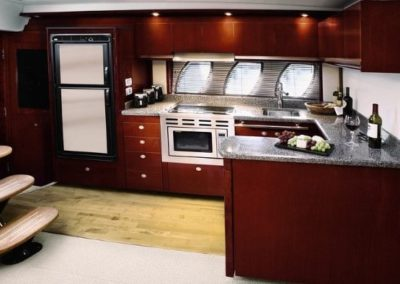 48 Searay yacht galley