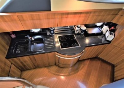 50 Azimut yacht galley