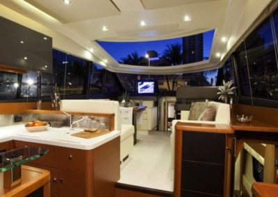 50 Prestige yacht galley and salon