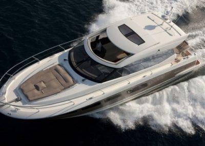 50 Prestige yacht cruising in Miami